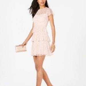 New Adrianna Papell Lace Tiered Party Dress